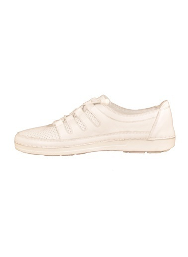Voyager 7410 Hakiki Deri Beyaz Kadın Günlük Ayakkabı Beyaz